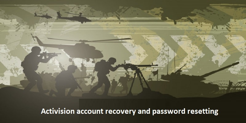 Activision account recovery and password resetting